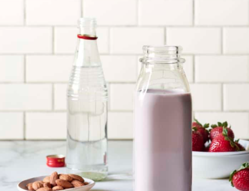 Strawberry Almond Milk with Rose Water